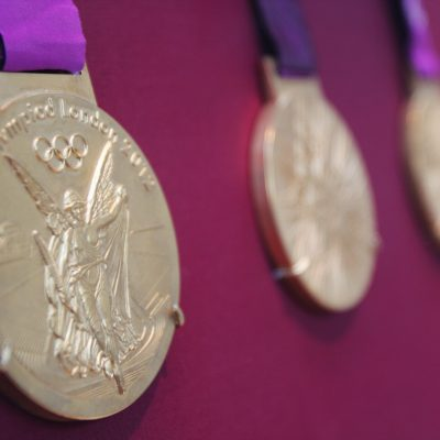 The 2012 Summer Olympics gold medals are on display in The British Museum in London from now until September 9, 2012.